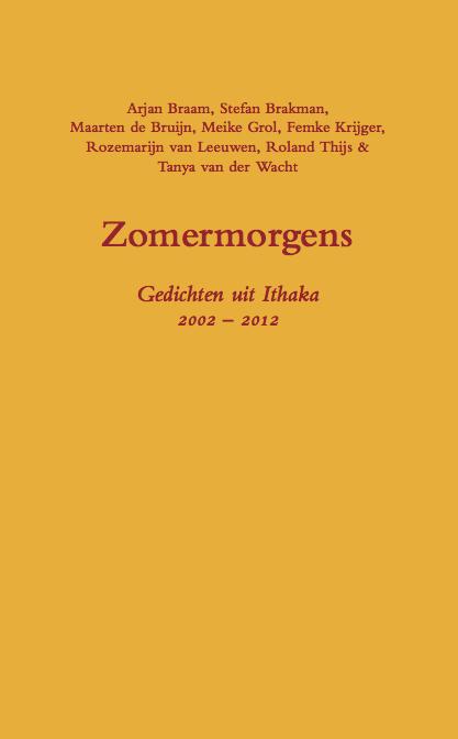 Ithaka Persbericht 2012 Uitgave Dichtbundel